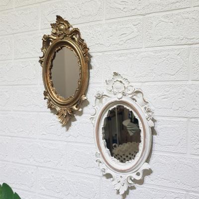 로렌 엔틱 화이트 벽거울 (소)