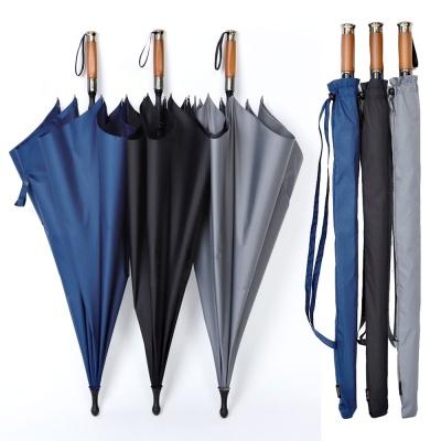 로베레 프리미엄 대형 자동장우산 어깨끈 우드그립