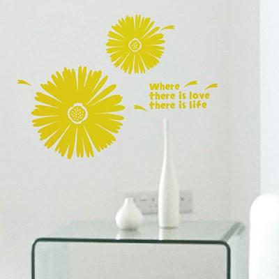 [PI23]국화꽃(완제품) - 재물운 그래픽스티커 풍수인테리어 월데코 포인트