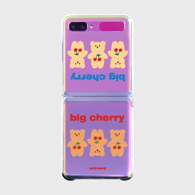 Three cherry big bear(Z플립-투명하드)