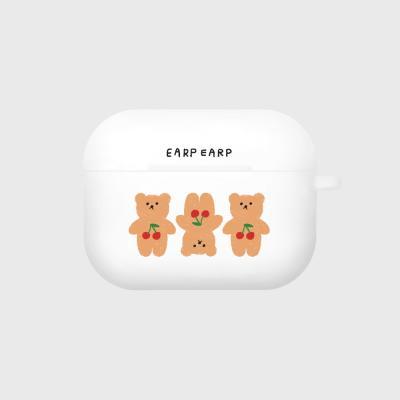 Three cherry big bear-white(Air pods pro case)