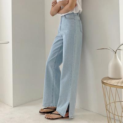Light Slit Wide Jeans