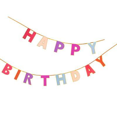 [빛나파티]로즈 생일 축하 가랜드 Happy Birthday