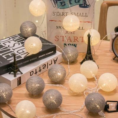 노르딕 코튼볼 LED 가랜드 조명 3M20등 3color
