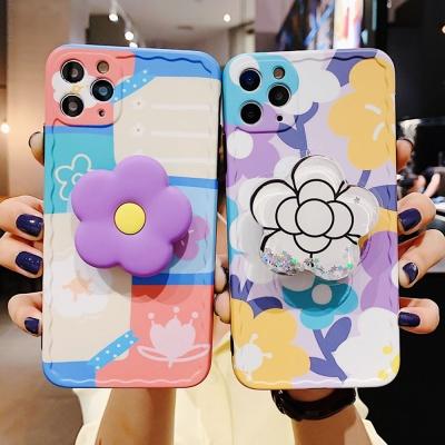 아이폰귀여운 펄 꽃 플라워 그립톡 범퍼 실리콘케이스