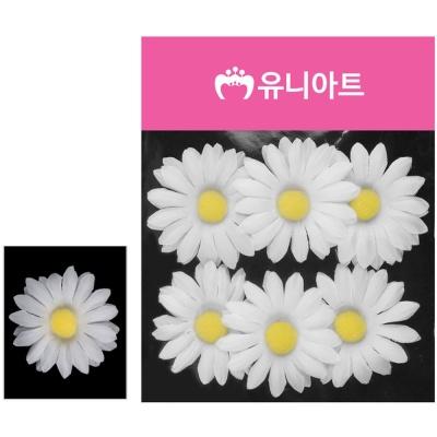 유니아트 (조화꽃) 1500 뿅국화 (흰색)