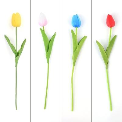 튤립 한 송이 조화 X4개 (색상랜덤) 인테리어 조화꽃