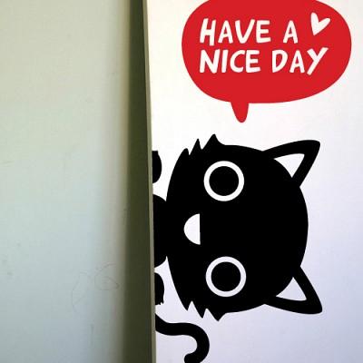 [아빠곰스티커]좋은하루되세요_고양이
