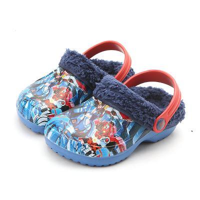 터닝메카드방한 유아동 캐릭터 방한 털 샌들 신발