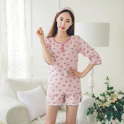 [쿠비카]토트 장미 7부 소매 투피스 여성잠옷 W155