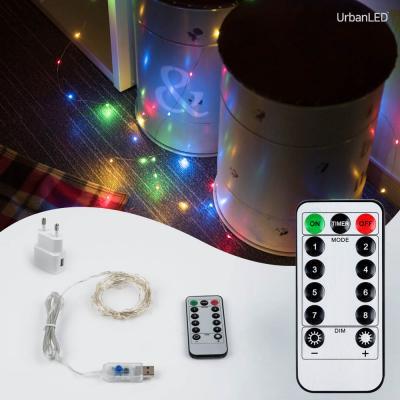 어반 LED 와이어전구 USB형 실버선 컬러