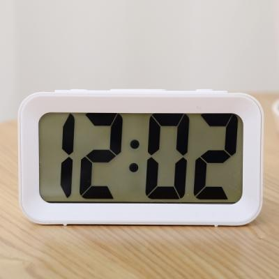 New LCD 디지털 알람 탁상 시계 (화이트) 추카추카넷