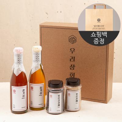[우리상회]국내산 참기름+들기름+깨2종 종합선물세트