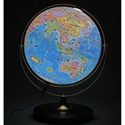 [무료배송][맵소프트]30cm 데스크 원목 조명 지구본