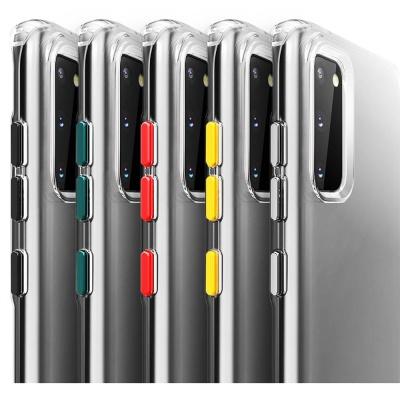 갤럭시s20 + ultra 컬러 버튼 투명 범퍼 젤리 케이스