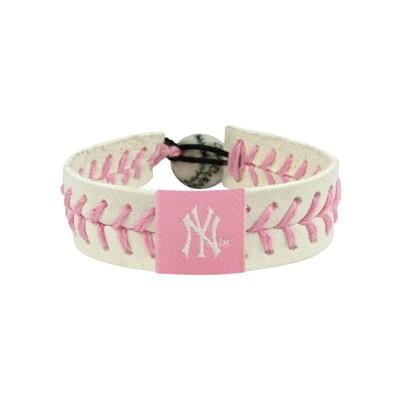 New York Yankees Pink Baseball Bracelet