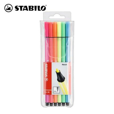 [스타빌로]펜68 사인펜 6C-1세트