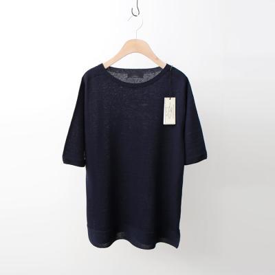 Maille Linen Round Sweater - 반팔
