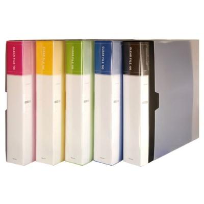 클리어화일 인덱스 A4 100매 청색 바인더 투명화일