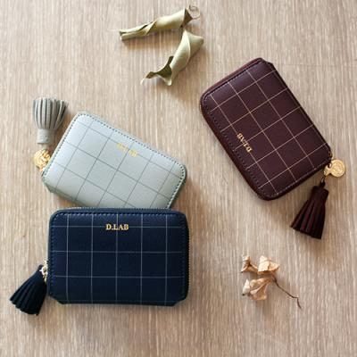 [스트랩 증정] D.LAB Check half wallet - 3color
