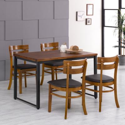 [랜선할인]아카시아 4인 식탁+의자PU 세트 FN702-12