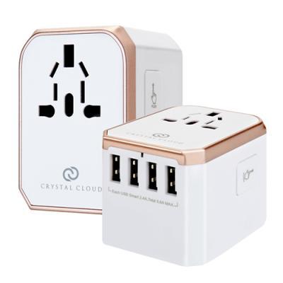 크리스탈클라우드 5포트 USB 5.6A 여행용 멀티어댑터