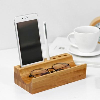 데스크 인테리어 스마트폰 펜꽂이 자연미학 정리함