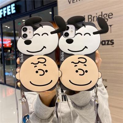 아이폰12 11 PRO MAX SE2 8 강아지 소년 캐릭터케이스