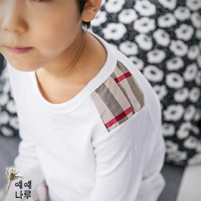 유로체크배색티셔츠