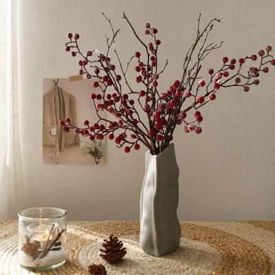 눈내린 레드베리 자작나무 그레이화병세트