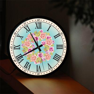 nf186-LED시계액자35R_아름다운꽃시계