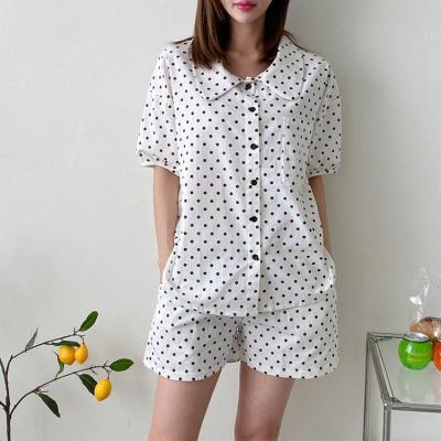 Dot Pajama Set - 반팔