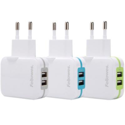 가정용 2포트 USB 충전기(그레이, 그린, 블루) (99268)(99272)(99273)