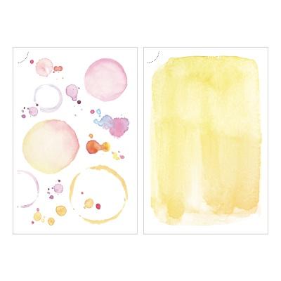 Miccudo 프린트-온 스티커 (7.Yellow planet)