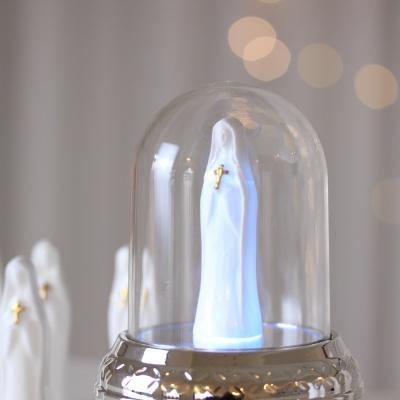 LED 오르골 성모성월 골드 십자가