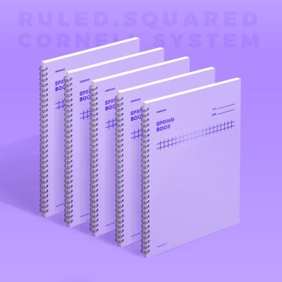 [모트모트] 스프링북 - 바이올렛 (스퀘어드) 5EA