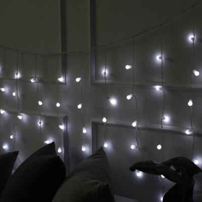 [2HOT] LED 95P 서클 고드름 전구 (백색)