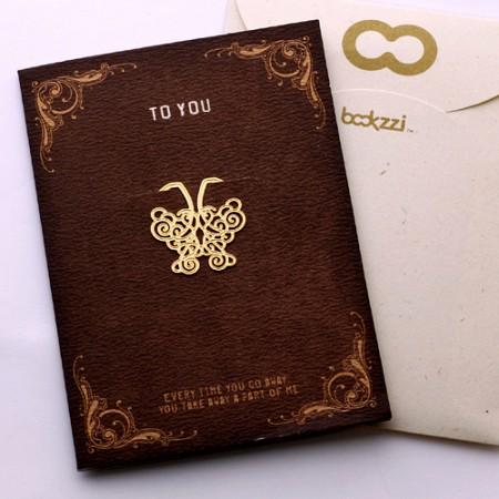 엔틱 나비 - 책갈피카드