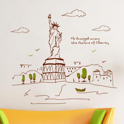 cj302-자유의여신상이보이는뉴욕풍경_그래픽스티커
