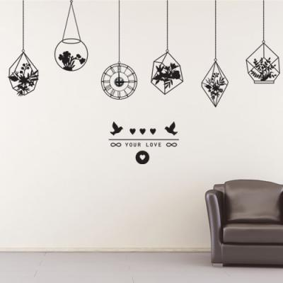 cc149-사랑의화초_그래픽시계(중형)