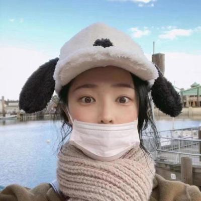 도타 퍼 귀여운 토끼귀 볼캡 모자