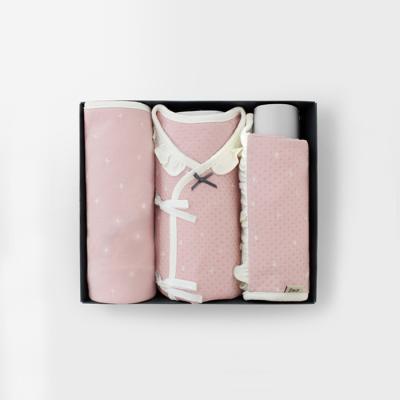 [메르베]트윙클 출산선물세트(저고리+속싸개+모자)