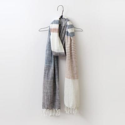 Cotton Stripe Scarf
