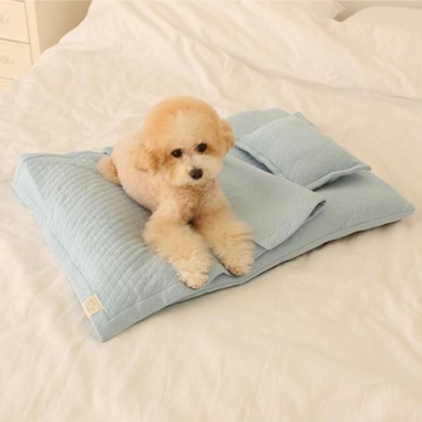 유아러피치 스위트 홈 이불세트_블루,핑크 강아지이불