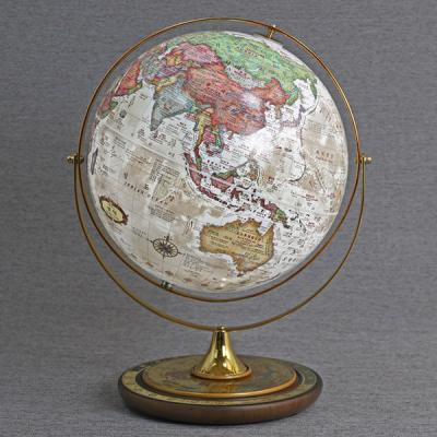 [무료배송][맵소프트]30cm 타임 원목 조명 지구본