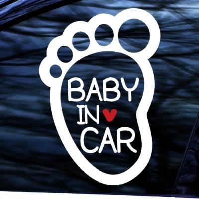 BABY IN CAR - 초보운전스티커(NEW143)