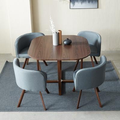 [리비니아]공간활용 4인 카페 테이블세트