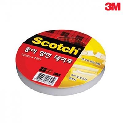 3M 스카치™ 티슈 종이 양면 테이프(3인치)