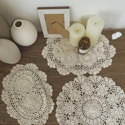 테이블보 뜨개 테이블매트 꽃2개(35X25)