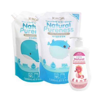 세탁세제+섬유유연제(상쾌한향)+액상젖병식기세정제